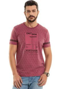 Camiseta East Side Rosa Bgo