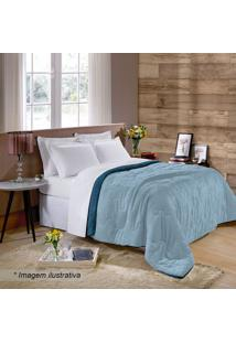 Edredom Plus Flanel King Size- Azul Marinho & Azul Clarobuettner