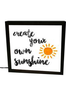 Luminária Prolab Gift Lightbox Sunshine Preta