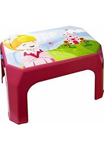 Banqueta Cadeira Banquinho Infantil Princesa Rosa Meninas