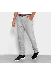 Calça De Moletom Jogger Calvin Klein Contraste Masculina - Masculino