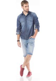 Bermuda Jeans Denuncia Azul