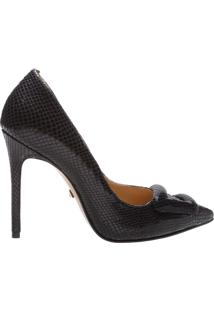 Scarpin Bright Snake Buckle Black | Schutz