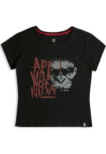 Camiseta Feminina Planeta Dos Macacos Caesar - Feminino