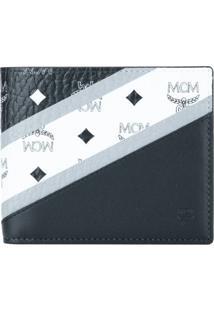 Mcm Carteira Com Logo - Preto