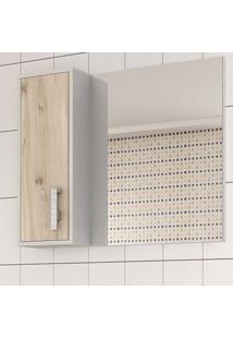 Conjunto Para Banheiro Balcony Onix 80 Artico/Cabernet