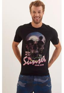 Camiseta John John Rx Skull Sunset Black Malha Preto Masculina Ts Rx Skull Sunset Black-Preto-P