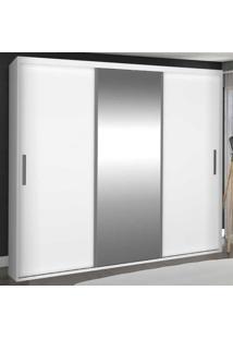 Guarda-Roupa Casal 3 Portas De Correr Com 1 Espelho 100% Mdf 1986E1 Branco - Foscarini