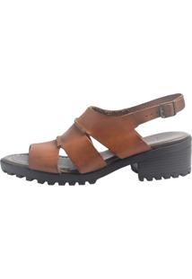 Sandália S2 Shoes Vitória Couro Castanho - Kanui