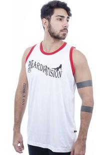 Camiseta Hardivision Vegas Sem Manga - Masculino-Branco