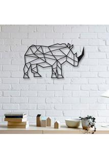 Escultura De Parede A Laser Rinoceronte