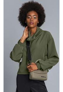 Blusão Gola Alta Amplo Verde