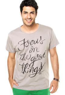 Camiseta Coca-Cola Jeans Reta Cinza