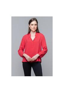Camisa 101 Resort Wear Lisa Viscose Polo Vermelho