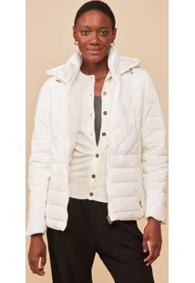 Jaqueta Amaro Nylon Puff Fitted Off-White - Branco - Feminino - Dafiti
