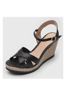 Sandália Dafiti Shoes Anabela Preto