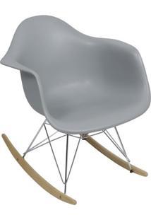 Poltrona Balanã§O Eames- Cinza & Prateada- 69X63X44Cmor Design