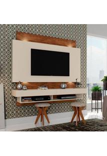 Painel Para Tv 65 Polegadas Araxá Ii Branco Brilho E Nobre 181 Cm