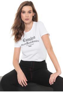 Camiseta Cavalera Skate Punk Jamaica Branca