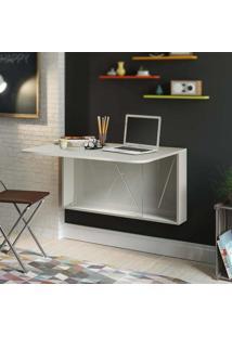 Escrivaninha/Mesa Suspensa Dobrável 1 Porta Basculante 1540 100 Mdp Branco - Carraro
