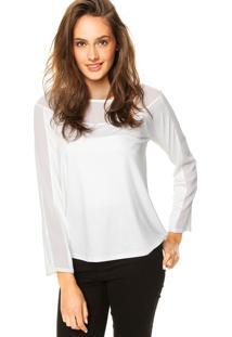 Blusa Enfim Transparente Off-White
