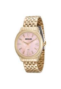 Relógio Analógico Feminino Seculus - 20504Lpsvds1 Dourado