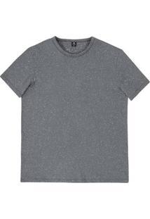 Camiseta Básica Masculina Em Malha Botonê De Algodão E Poliéster Hering