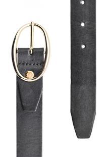 Cinto Corazzi Leather Deluxe Liso Preto