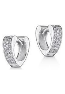 Argola Wonder Coracao Ob Com Diamante Ttlb - U