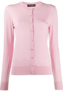 Dolce & Gabbana Slim Fit Cardigan - Rosa