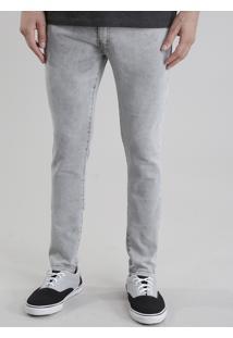 Calça Jeans Super Skinny Cinza