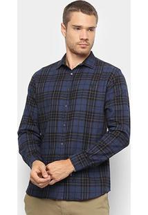 Camisa Xadrez Manga Longa Foxton Flanelada Masculina - Masculino