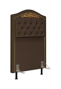 Cabeceira Cama Box Solteiro 90Cm Imperial J02 Suede Chocolate - Mpozen
