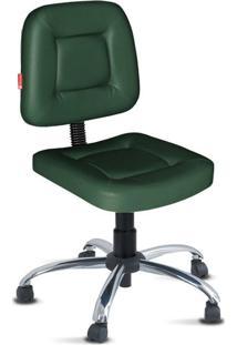Cadeira De Escritório Verde Musgo Cromada Webmax1020