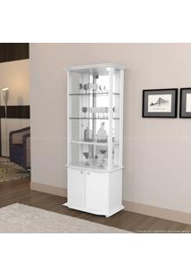 Cristaleira 4 Portas Monalisa Branco Acetinado - Imcal