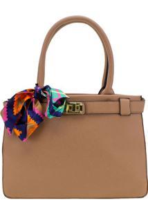 Bolsa Feminina Arara Dourada - T278 Bege
