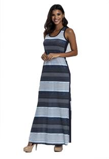 Camisola Recco Longa De Super Micro E Viscose Azul - Tricae