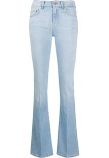 7 For All Mankind Calça Jeans Bootcut Cintura Alta - Azul