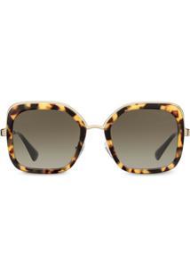 Prada Eyewear Oversized Square Sunglasses - Marrom