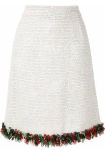 Dolce & Gabbana Saia Reta Em Tweed - Branco