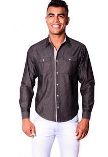 Camisa Jeans Zimpool Slim Collin Black