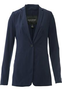 Blazer Banana Republic Long And Lean Performance Azul-Marinho - Kanui
