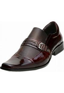 Sapato Social Gofer Verniz Vinho