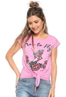 Camiseta Fiveblu Amarração Rosa