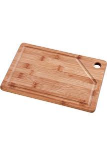 Tábua Retangular Bamboo - Unissex-Marrom
