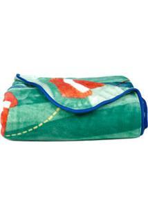 Cobertor Solteiro Jolitex Raschel Disney Azul/Estampado