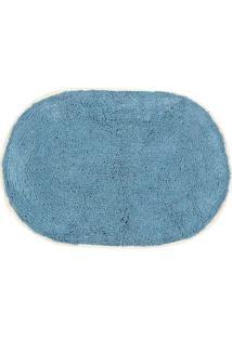 Tapete Para Banheiro Le Oval Azul 40X60Cm
