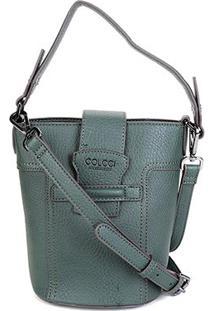 Bolsa Colcci Mini Bag Balde Passante Feminina - Feminino-Verde