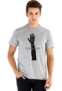 Camiseta Ouroboros Viva La Alquimia Masculina - Masculino-Cinza