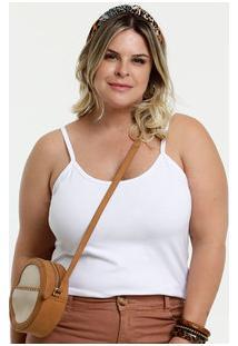 Blusa Feminina Básica Plus Size Alças Finas Marisa